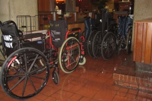 Empty Wheelchairs