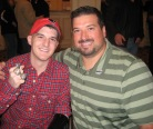 Joe Andruzzi and Fan